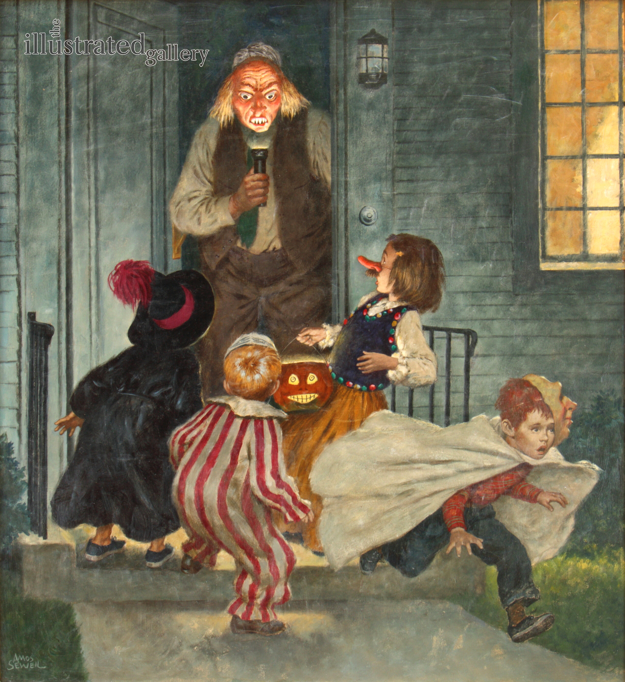 Cover Of The Saturday Evening Post Halloween Edition By