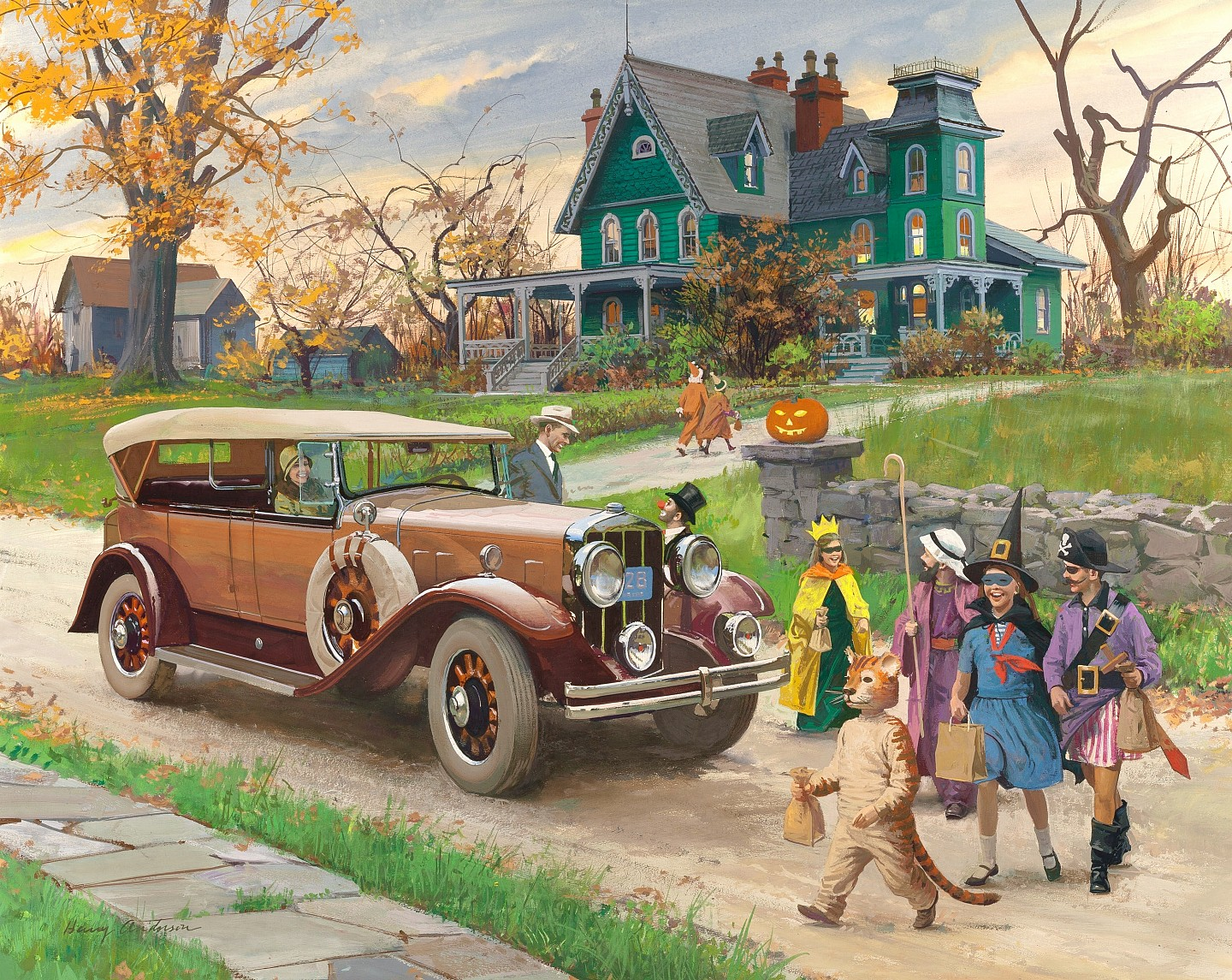 Halloween 1929 Franklin Sports Car By Harry Anderson