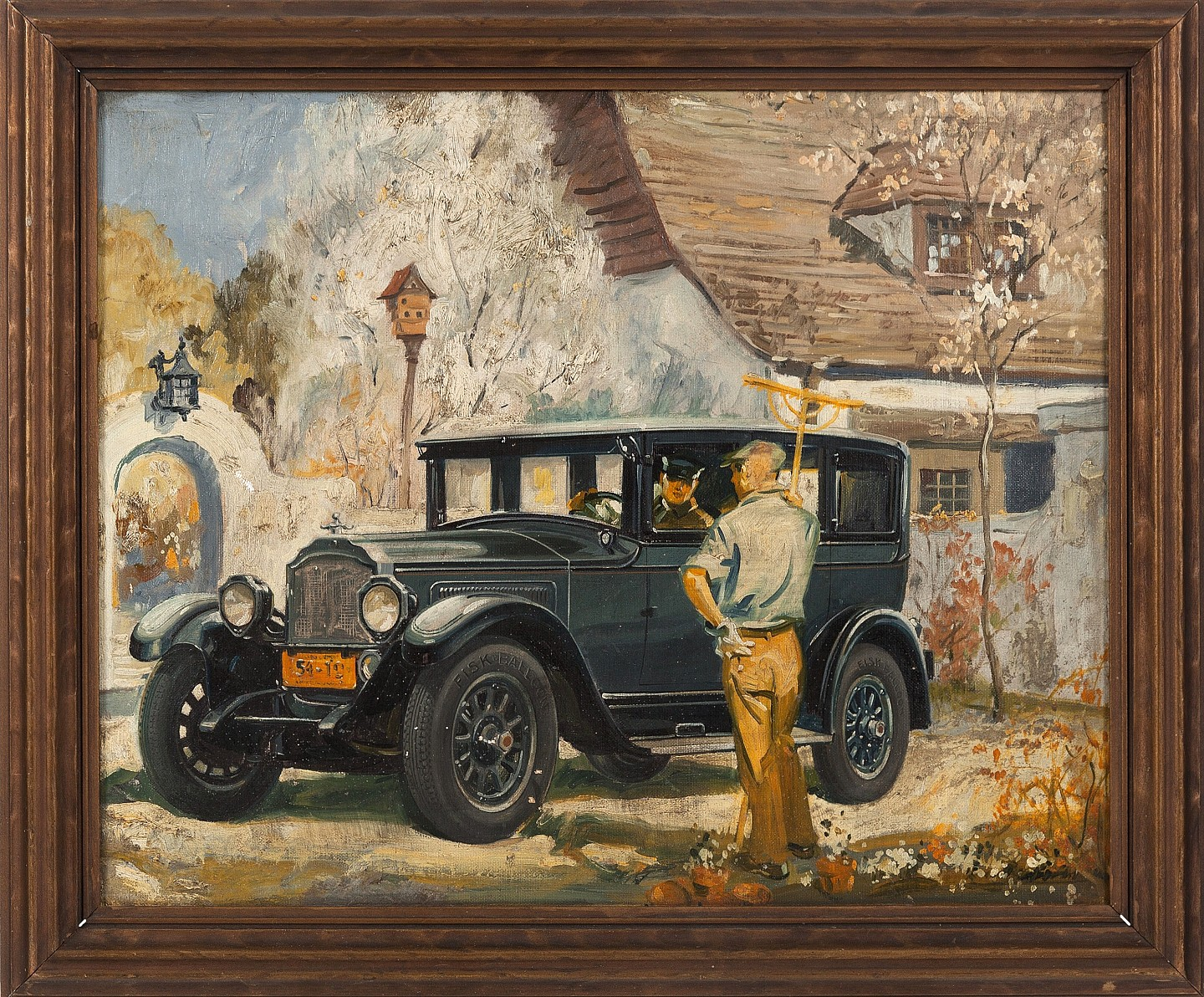 1920s Packard Painting- SOLD by Artist Unknown