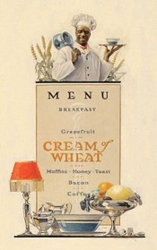 Menu, Cream of Wheat Advertisement