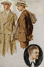 Two Well Dressed Men, Ad Illustration
