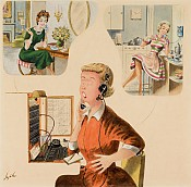 Telephone Exchange, Saturday Evening Post Cover