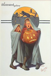 Halloween Scare, Saturday Evening Post Cover