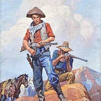 Two Gunslingers - Western Story Magazine Cover