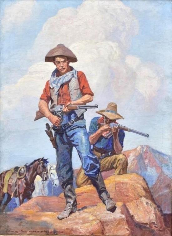 Two Gunslingers - Western Story Magazine Cover