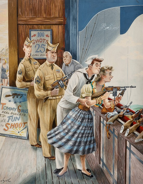 Shooting Gallery, Saturday Evening Post Cover