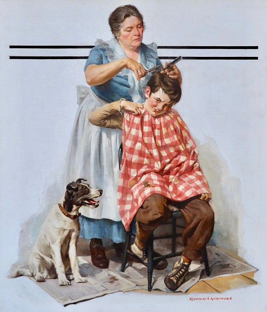 Haircut, Saturday Evening Post Cover
