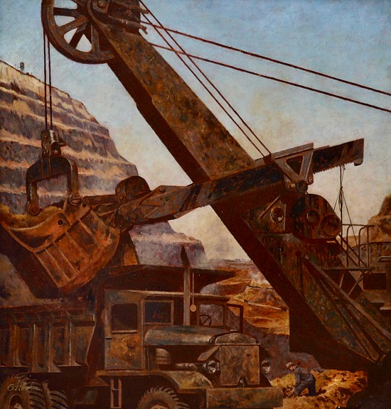 Steam Shovel, Saturday Evening Post Cover, 1947