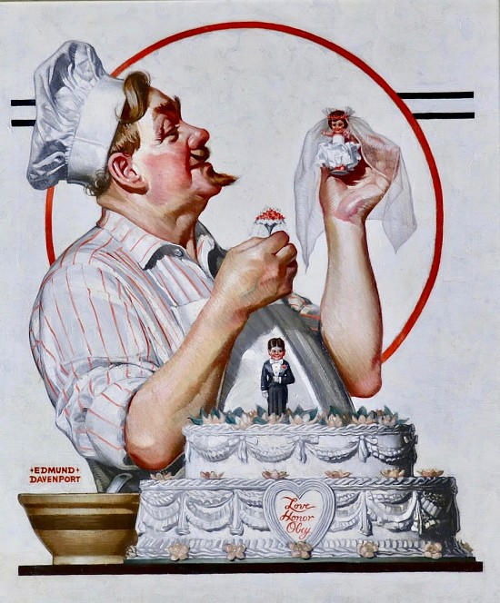 The Chef and the Wedding Cake, Saturday Evening Post Cover