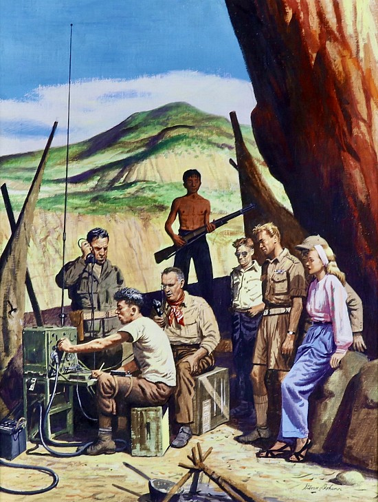 """""""Valley of Ashes,"""" Story Illustration for the Saturday Evening Post"""