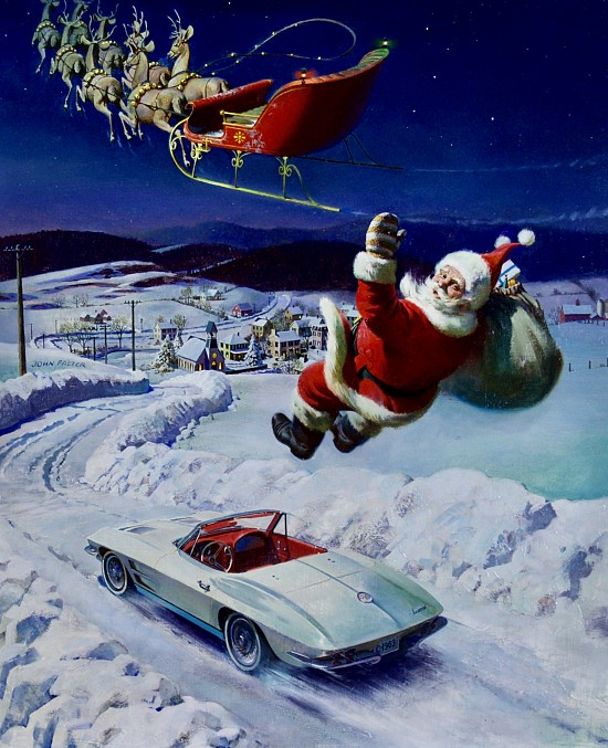 Santa's 1963 Corvette Convertible, Hertz advertisement
