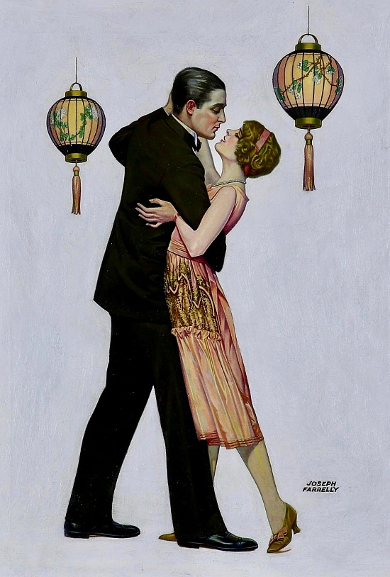 Couple Dancing, Liberty Magazine Cover, 1925