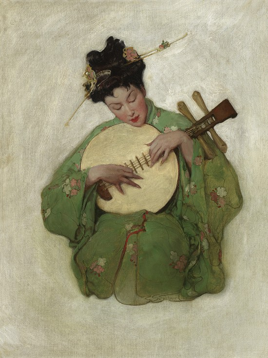 Kimono, Saturday Evening Post Cover, February 1907