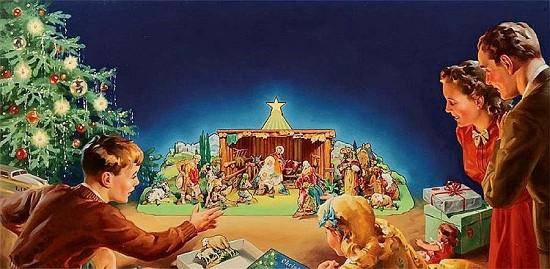 Christmas Manger Set - A Product Illustration