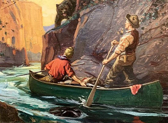 Men on Canoe