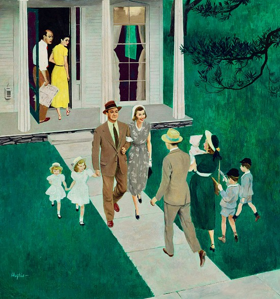 Sunday Afternoon Callers, Saturday Evening Post Cover, June 17, 1950