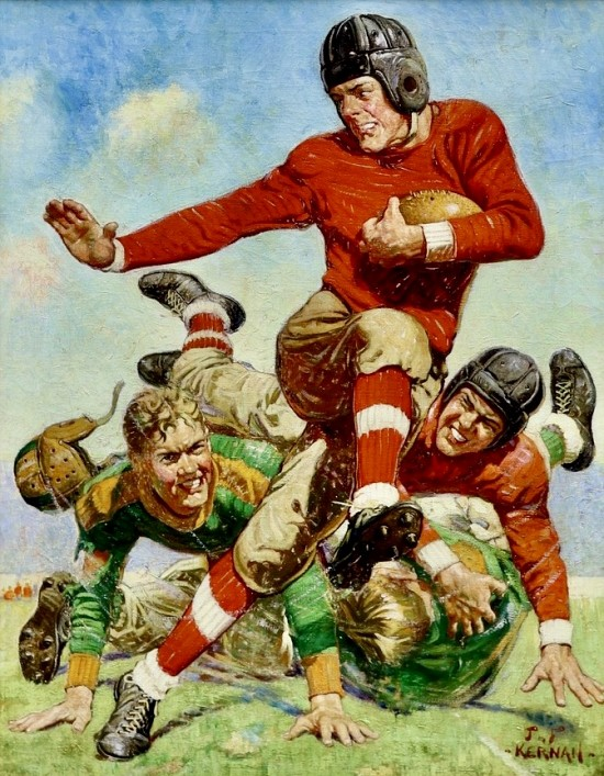 College Football, Saturday Evening Post Cover, 1932