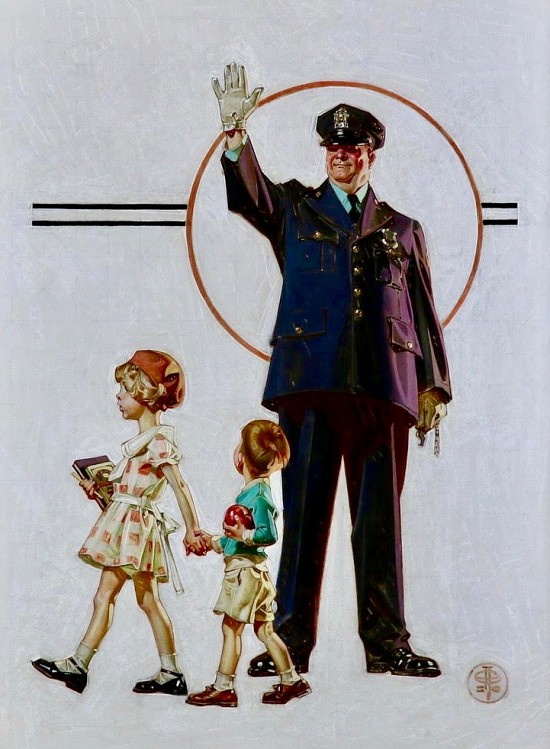 Policeman and School Children, SEP Cover, Oct. 3, 1931