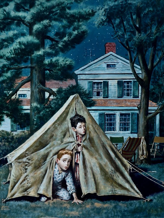 Backyard Campers, The Saturday Evening Post Cover