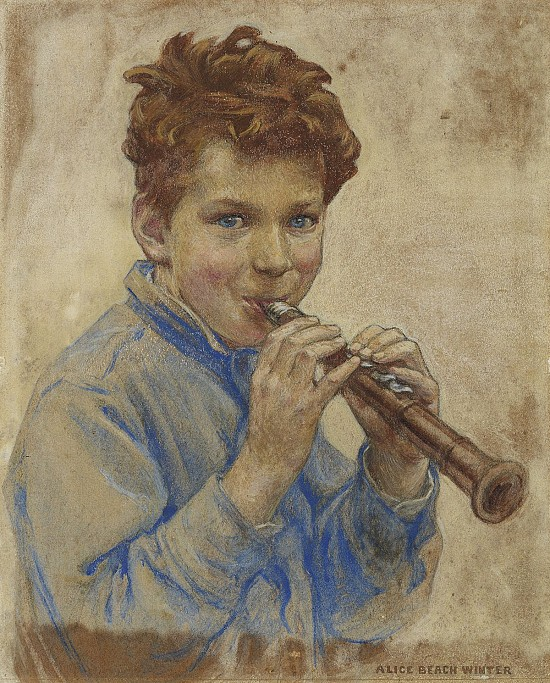 Boy with Clarinet, Cover for Children Magazine