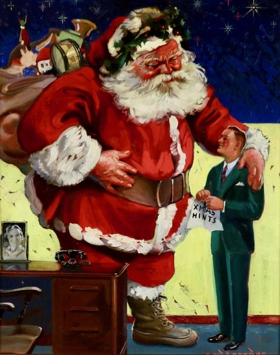 Santa Claus, Likely Advertisement for Coolerator Refrigerators