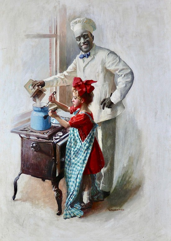 The Cooking Lesson, Cream of Wheat advertisement, 1910