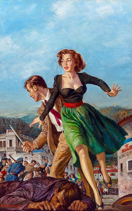 Treachery in Trieste, Paperback Cover