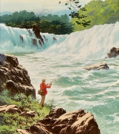 """Below the Falls,"" USRD Magazine Illustration, 1978"