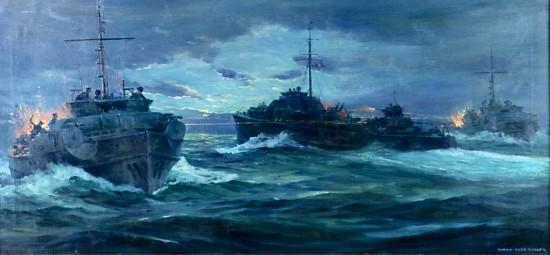 World War II Naval Engagement