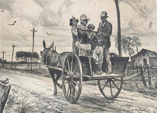 Family on Donkey Cart
