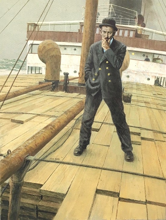 Man on Shipdeck