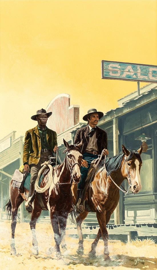 Two Men on Horseback, Book Cover