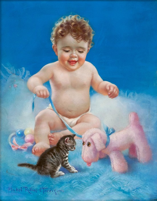 Baby with Kitten