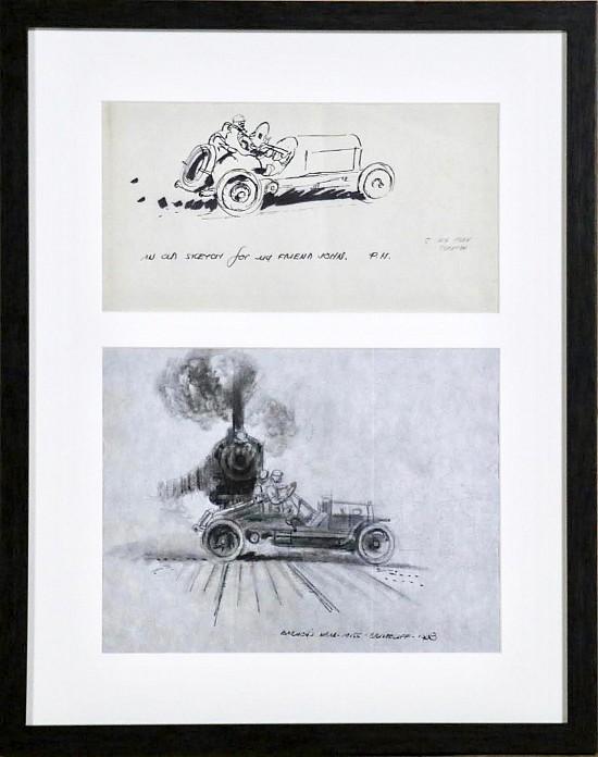 Two Car Drawings