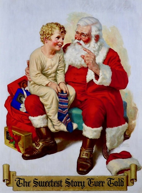 "On Santa's Knee, ""The Sweetest Story Ever Told"""