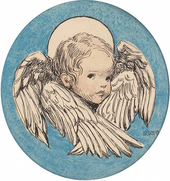 Angel, A Child's Prayer, Interior Book Illustration, 1926