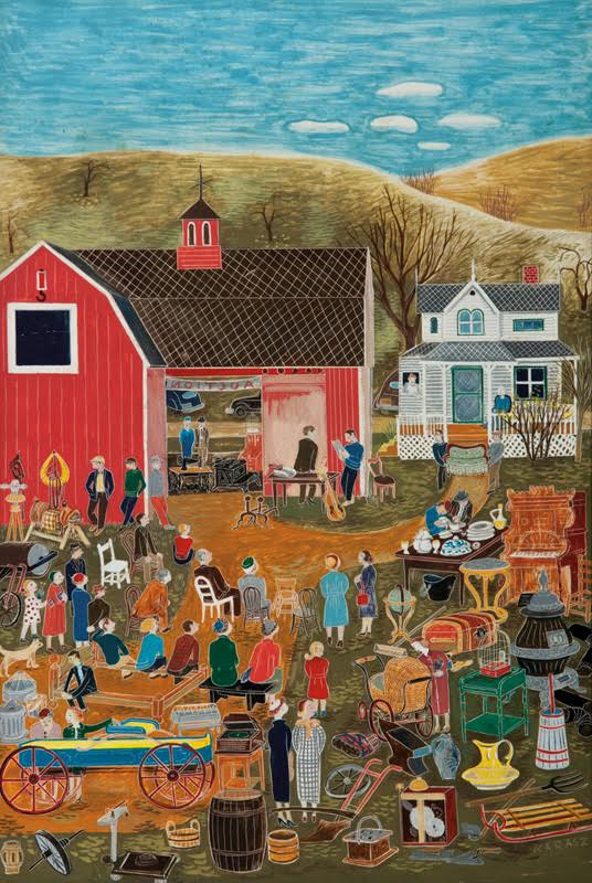 Country Auction, The New Yorker Magazine Cover