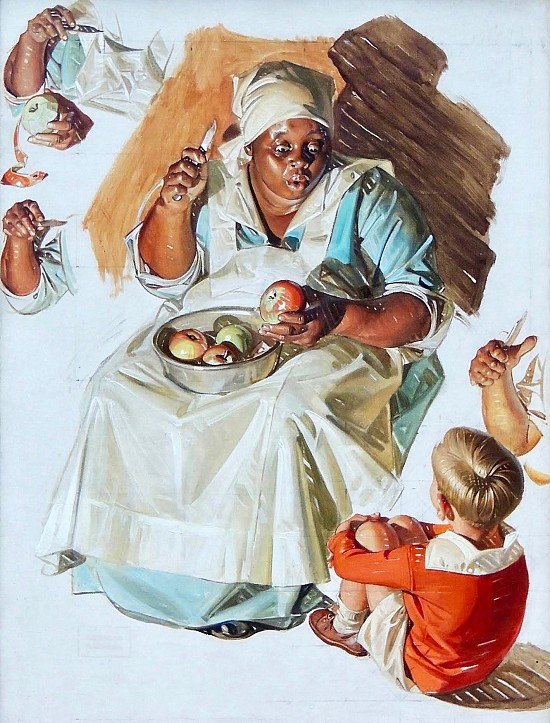 The Story Teller, The Saturday Evening Post Cover Study, December 1, 1934