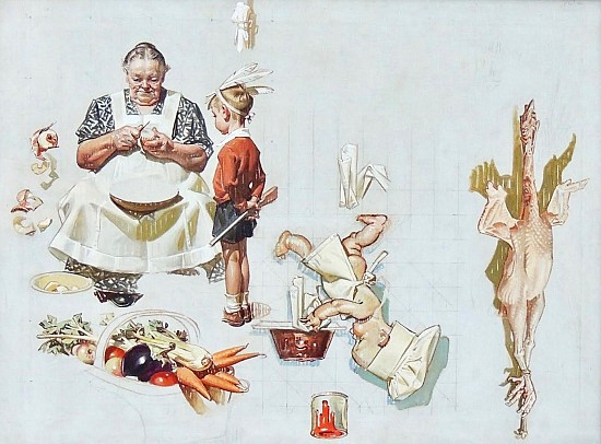 Study for 'Trimming the Pie'