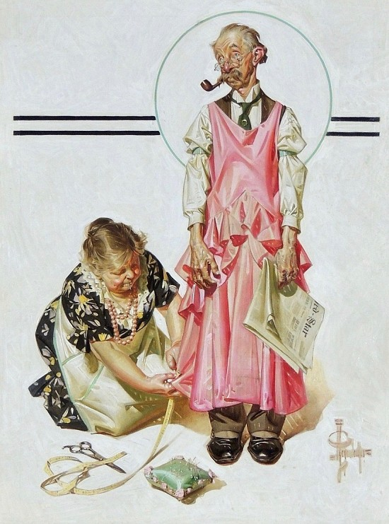 Living Mannequin, The Saturday Evening Post cover, March 5, 1932