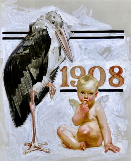 New Years Baby, Saturday Evening Post Cover