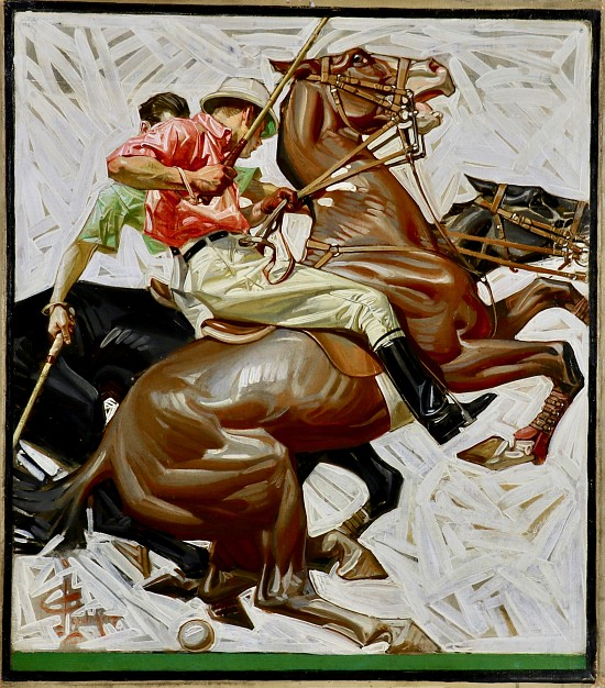 Polo Players on Horseback, Kuppenheimer Advertisement