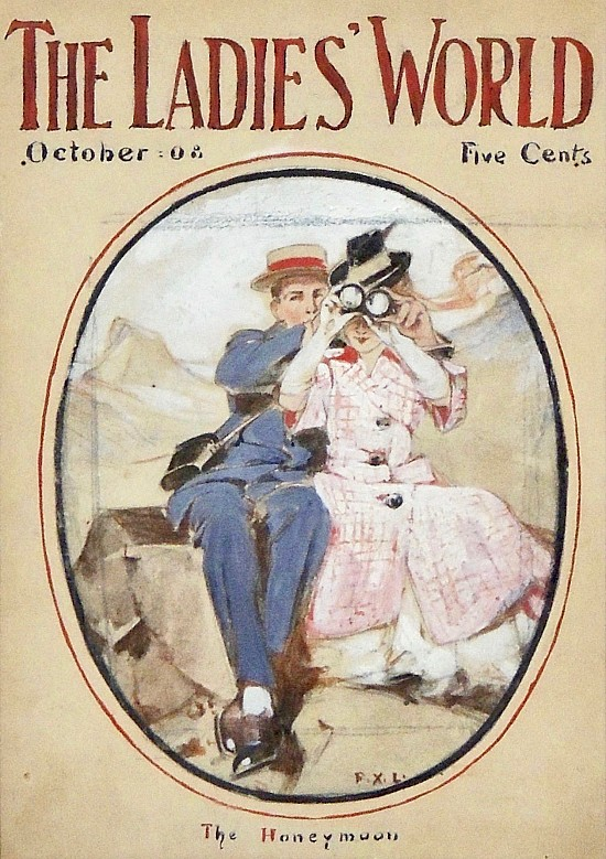 The Honeymoon, The Ladies World Magazine Cover, October 1908