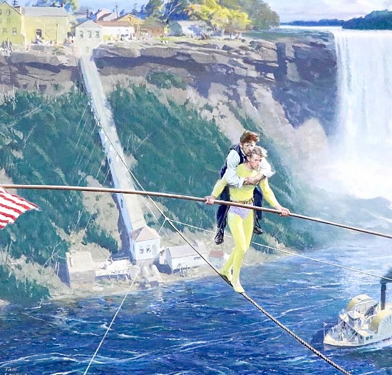 Blondin Crossing Niagara