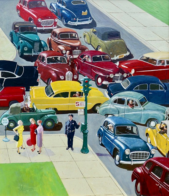 Traffic Jam, Saturday Evening Post Cover