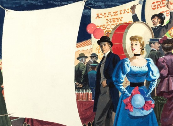 At the Fair, Magazine Story Illustration