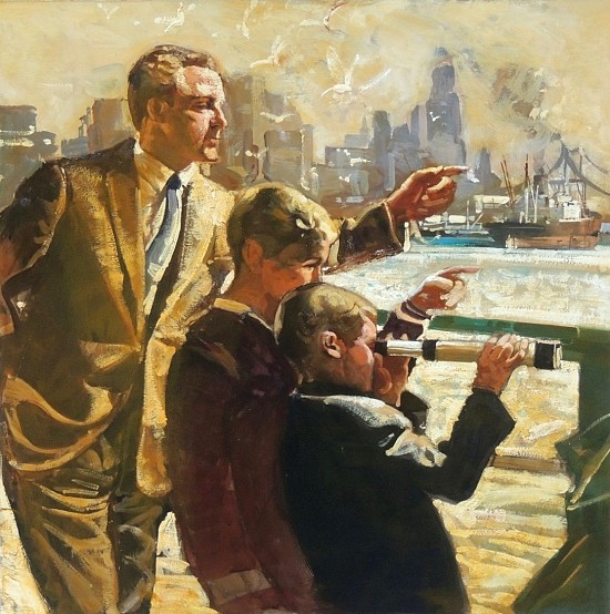 New York Harbor Scene