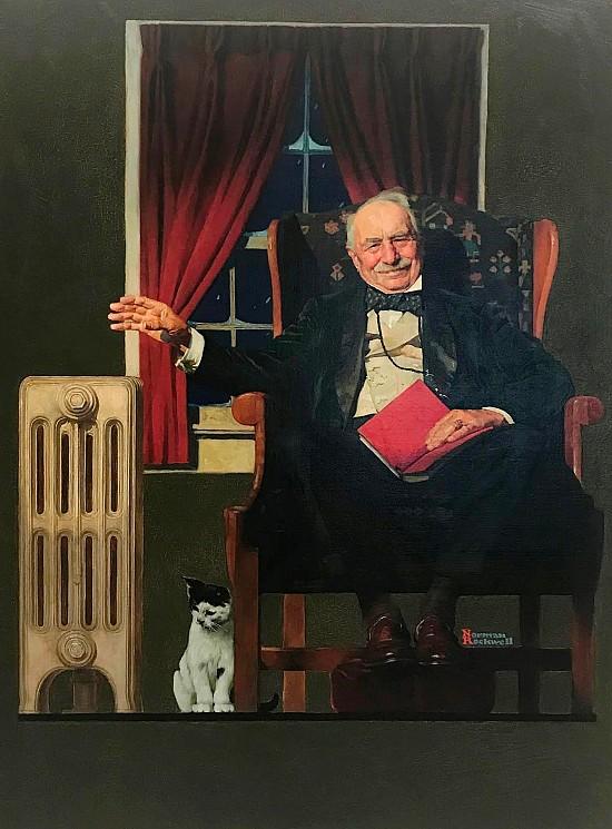 Man Seated by Radiator