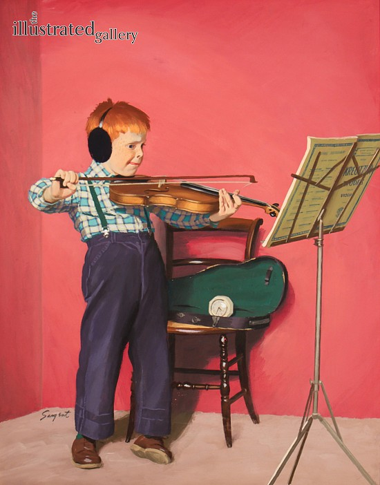 Violin Practice, Saturday Evening Post Cover