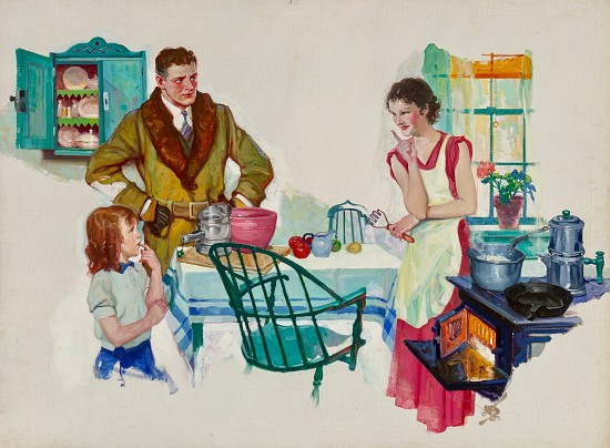 Family Breakfast, 1935